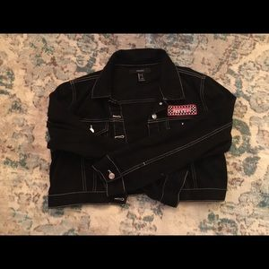 Black cropped jacket (price negotiable)